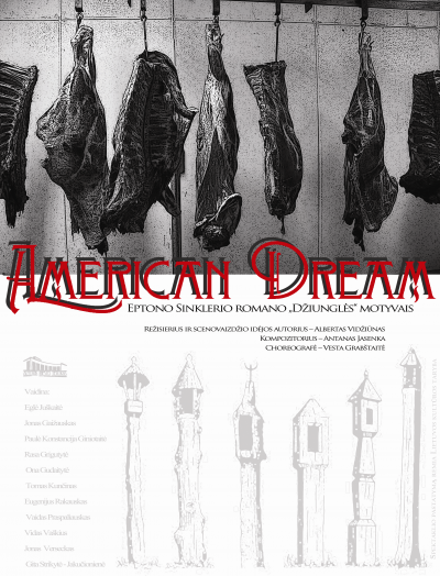 American dream_plakatas - Kirptas be datos