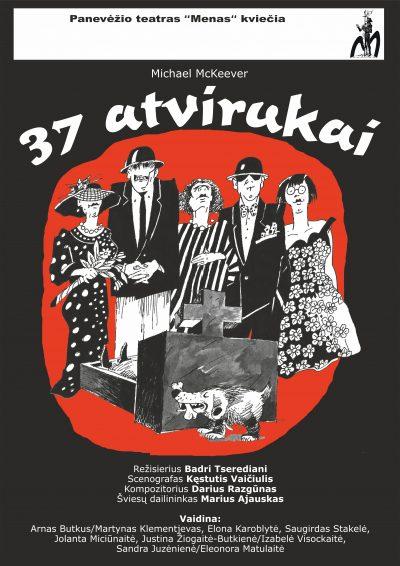 "Panevezio teatro Menas romantine komedija""37 atvirukai"" lapkricio 15 d. 18 val."