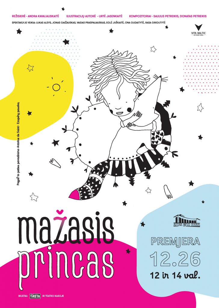 """Alytaus miesto teatro premjera """"Mažasis princas"""" gruodžio 26 d. 12 ir 14 val."""