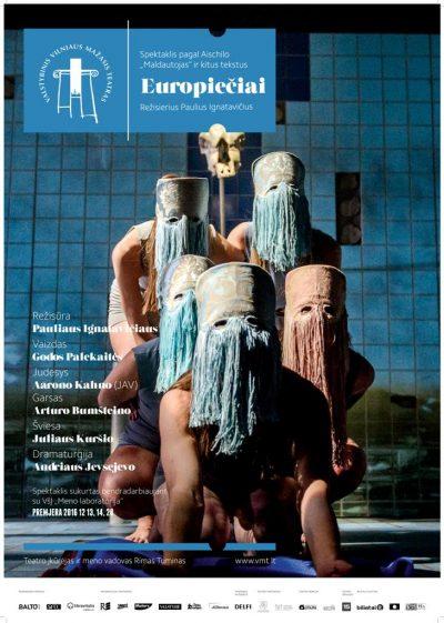 """Vilniaus mažojo teatro spektaklis """"Europiečiai"""" lapkričio 7 d. 18 val"""