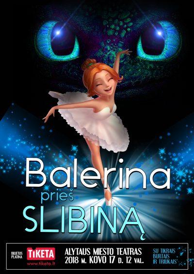 """Interaktyvus ir pamokantis šou vaikams """"Balerina prieš Slibiną"""""""