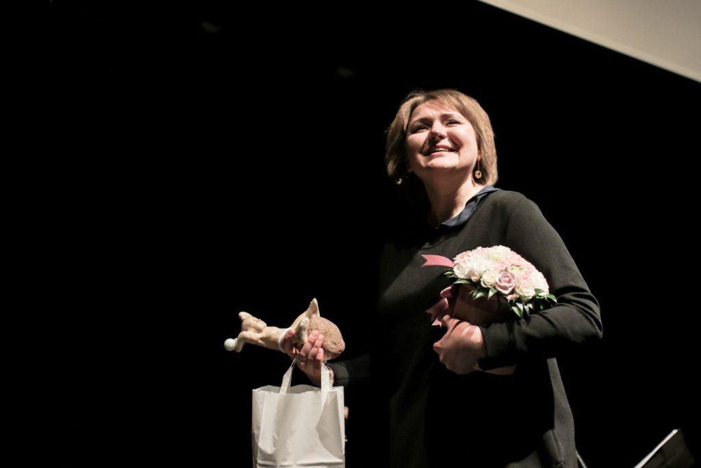 Teatrakmenis aktorei Eglei Juškaite. © Miško Motė
