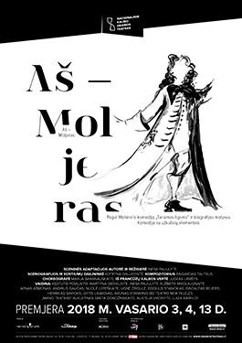 """Nacionalinio Kauno dramos teatro komedija """"AŠ – MOLJERAS"""". Donato Stankevičiaus nuotr."""