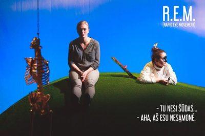 """Klaipėdos jaunimo teatras """"R. E. M."""". Režisierius Jonas Tertelis. Foto. Laurynas Butkevičius"""