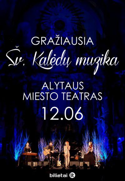 """Akustinis kalėdinis koncertas """"STEBUKLO PALIESTI""""Sv. Kaledu muzika_Alytus"""