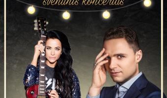 """Atlikėjų Aistės Pilvelytės ir Edgaro Lubio (Amberlife) koncertas su šventine programa """"Geriausios dainos"""" Alytuje"""