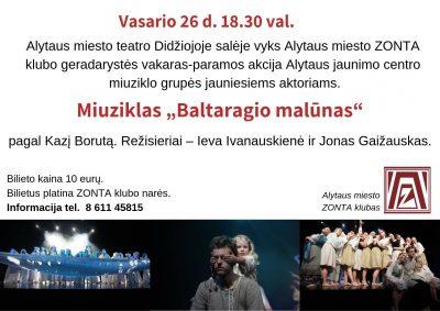 "Miuziklas ""BALTARAGIO MALŪNAS"" (rež. I. Ivanauskienė, J. Gaižauskas)"