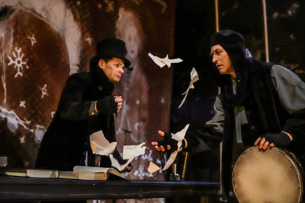 "Alytaus teatro spektaklis vaikams ""Skrudzo gatv4s angelai"", rež. A. Lebeliūnas ©Misko Mote"